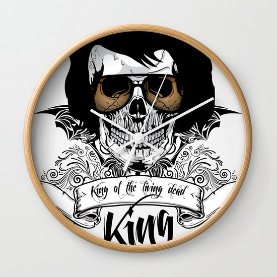 Elvis Presley | The King of the Living Dead Wall Clock