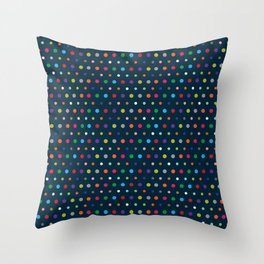 Color Polka Throw Pillow