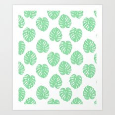 Palm Leaf indoor house plant hipster cheese plant palm leaf tropical vibes Art Print