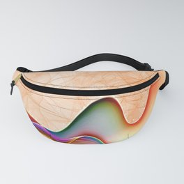 Fire & Heat Flames of Orange, Red, Yellow, Green, Soft Purple by Saletta Home Decor Fanny Pack