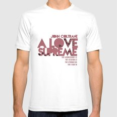 A Love Supreme - John Coltrane / Album Cover Art LP Poster  Mens Fitted Tee MEDIUM White
