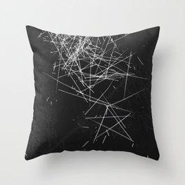 Brush Dust Star Symbol Throw Pillow