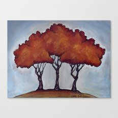 Fall Crepe Myrtles Canvas Print