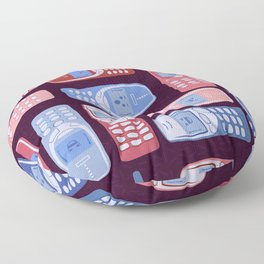 Vintage Cellphone Reactions Floor Pillow