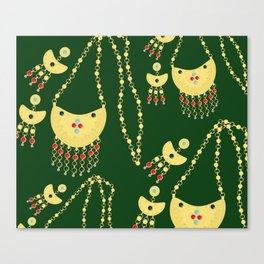 Traditional jewelery green Canvas Print