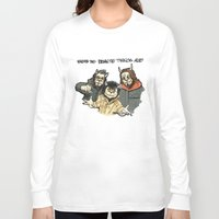 beastie boys Long Sleeve T-shirts featuring Where The Beastie Things Are by Derek Salemme