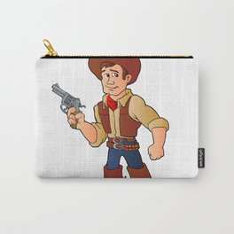 cowboy with revolver Carry-All Pouch