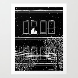 Winter with you Art Print