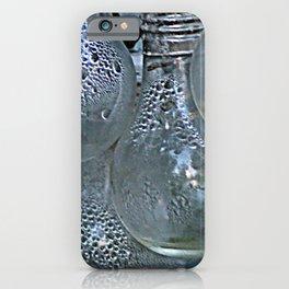 Rain on Light Bulbs Cluster iPhone Case