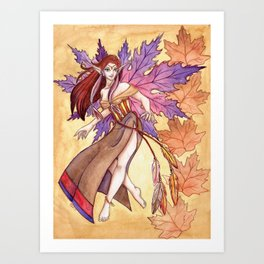 As The Leaves Fall Art Print