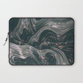 turne II. Abstract Charcoal Melt Laptop Sleeve