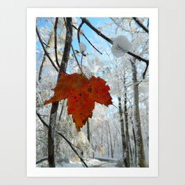 The Last of Autumn  Art Print