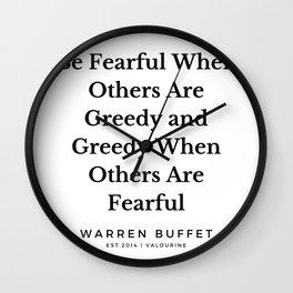 4  | Warren Buffett Quotes | 190823 Wall Clock