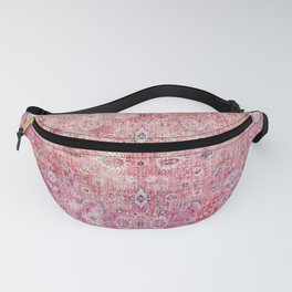 N45 - Pink Vintage Traditional Moroccan Boho & Farmhouse Style Artwork. Fanny Pack