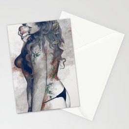 Koi No Yokan rs   nude girl with apple Stationery Cards