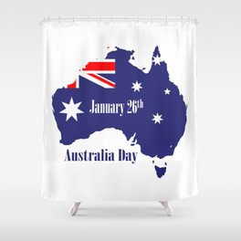 Happy Australia Day Shower Curtain