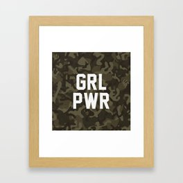 GRL PWR Framed Art Print