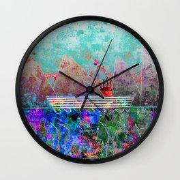Canoe, Paradise, and Sunset Wall Clock