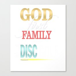 God First Family Then Disc Golf Canvas Print