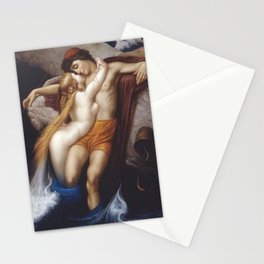 The Fisherman and the Mermaid nautical methological landscape painting by Frederic Leighton  Stationery Cards