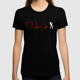 Gaming Heartbeat And Heart T-shirt