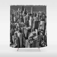 chicago Shower Curtains featuring Chicago by Claude Gariepy