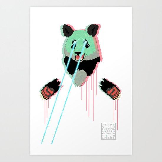 Panda with F$%king Lazers Art Print