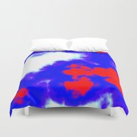 patriotic Duvet Covers featuring Patriotic Sky by Christy Leigh