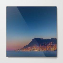 Monaco at Dusk Metal Print