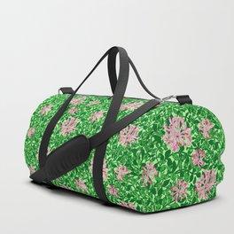 William Morris Honeysuckle, Pink and Emerald Green Duffle Bag
