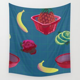 BLUE PICNIC Wall Tapestry