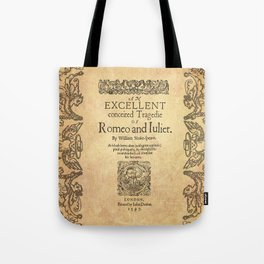 Shakespeare, Romeo and Juliet 1597 Tote Bag