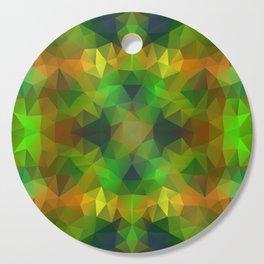 Kaleidoscopic design in bright colors Cutting Board