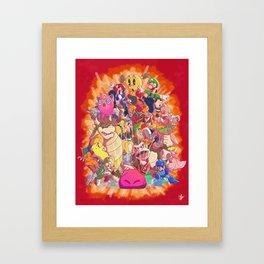 Down-B Framed Art Print