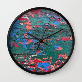 Chipping Paint Wall Clock