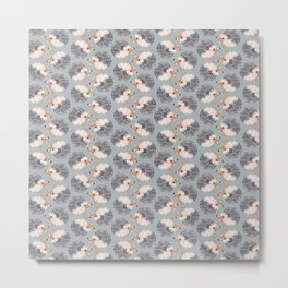 Hedgehogs Pattern Metal Print