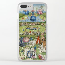 The Garden of Earthly Delights Clear iPhone Case