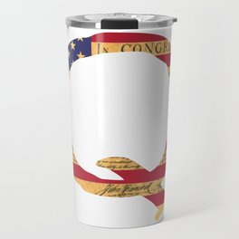 Qanon The Great Awakening MAGA USA WWG1WGA Declaration of Independence Shirt Travel Mug