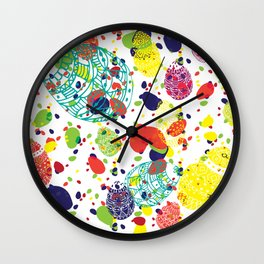 Great  Easter messy Wall Clock
