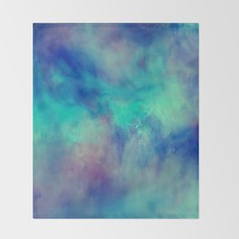 Abstract watercolor grunge pattern Throw Blanket