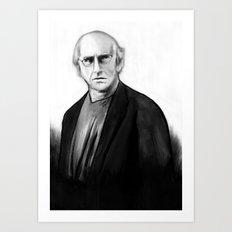 DARK COMEDIANS: Larry David Art Print