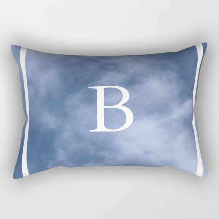 B in the clouds Rectangular Pillow