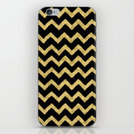 Chevron Black And Gold iPhone Skin