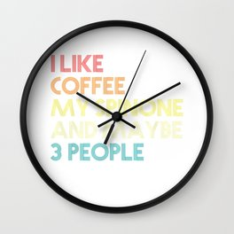 Italian Spinone Dog Owner Coffee Lovers Gift Vintage Retro T-Shirt Wall Clock