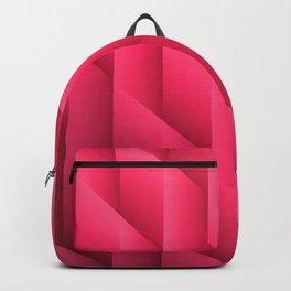 Gradient Pink Diamonds Geometric Shapes Backpack