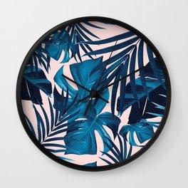 Tropical Jungle Leaves Pattern #6 #tropical #decor #art #society6 Wall Clock