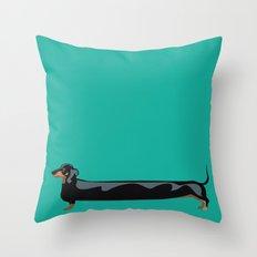 dachshund - wiener dog - i love my wiener Throw Pillow