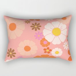 Groovy 60's Mod Flower Power Rectangular Pillow