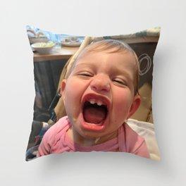 Smiling Kid Throw Pillow