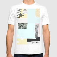 On the wall#4 Mens Fitted Tee White MEDIUM